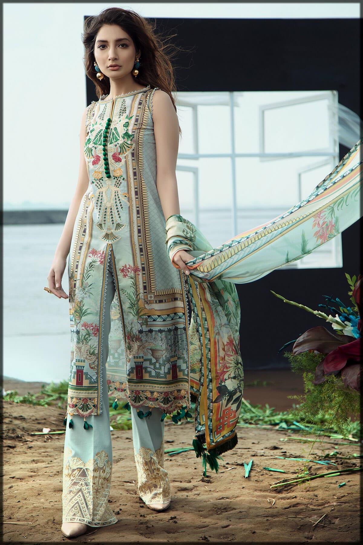 luxury party wear dress by firdous