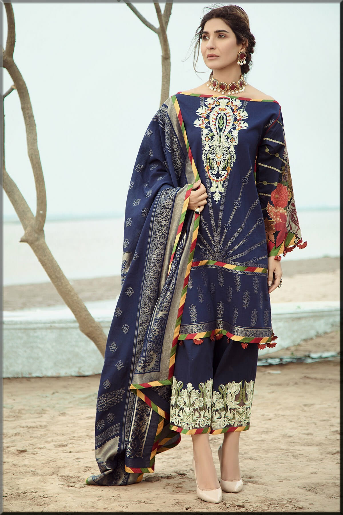 most stylish and gorgeous blue party wear dress