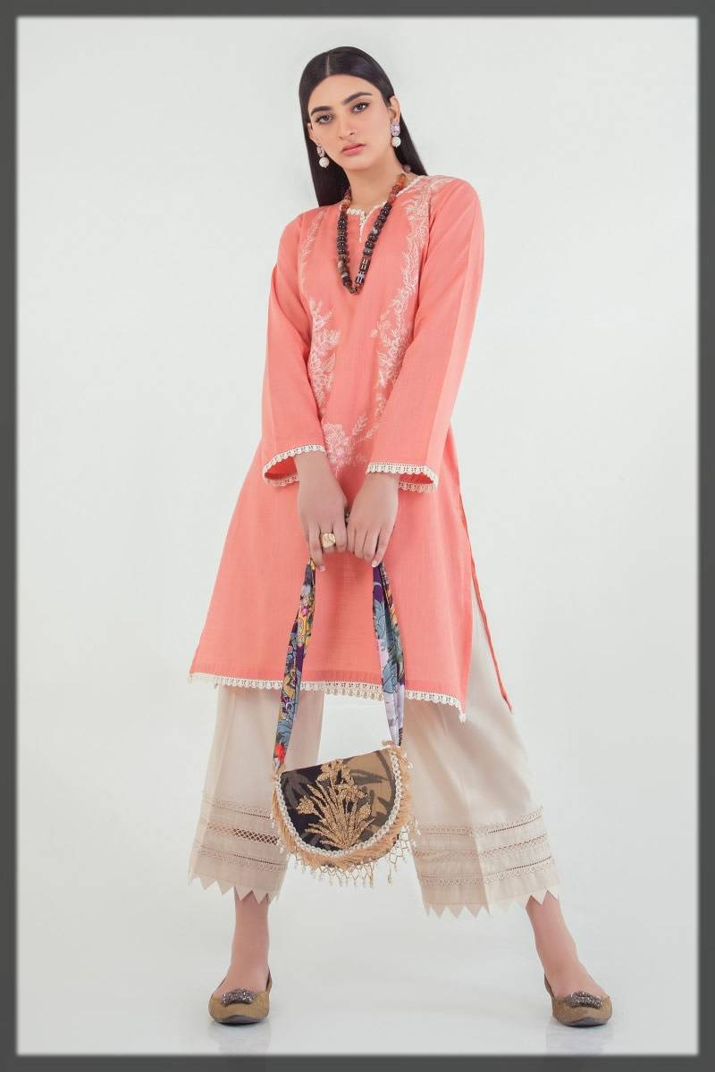 pink basic lawn shirt