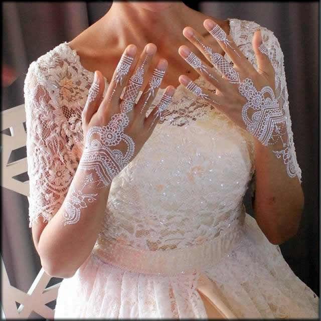 pretty princess white mehndi designs