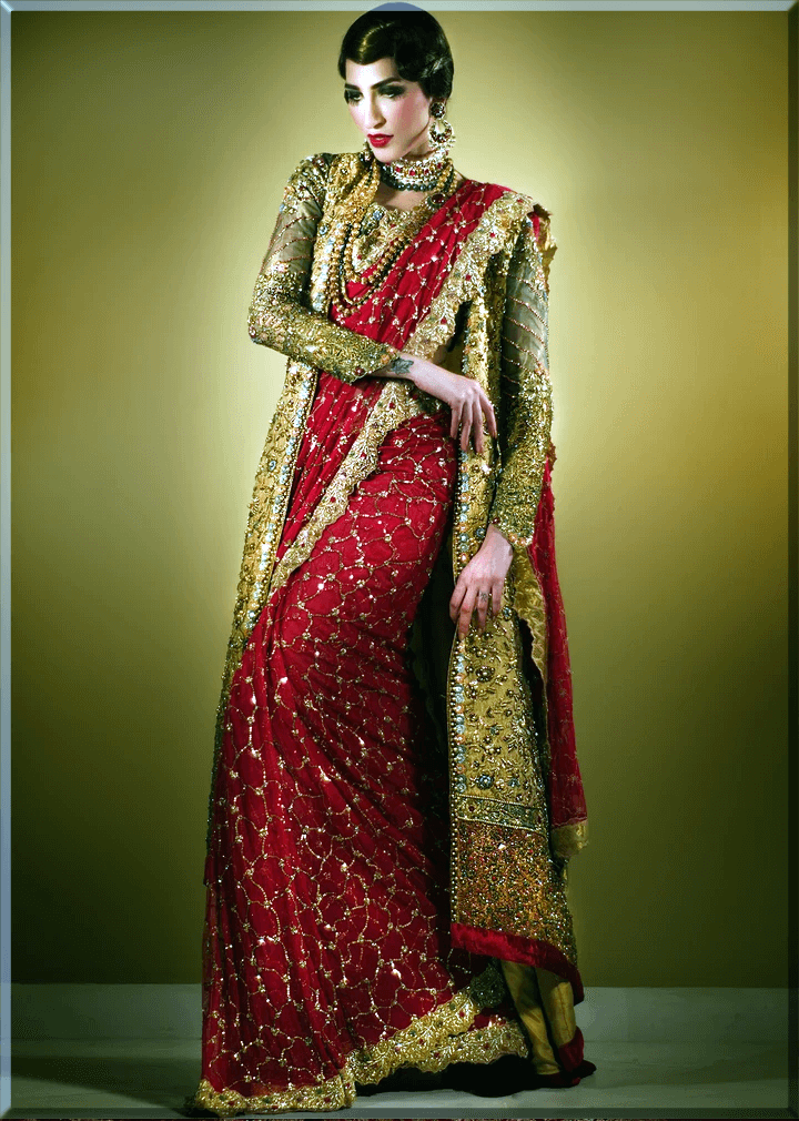 red and green teena durani saree collections