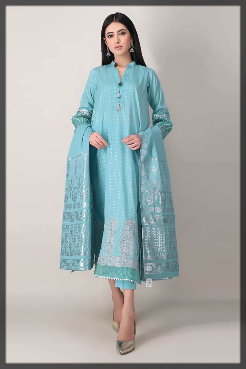 sky blue festive dress
