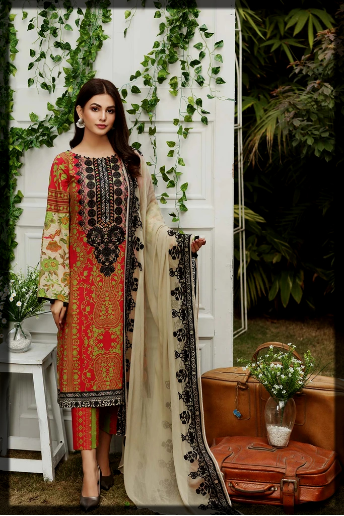 striking and classy charizma summer lawn suit for teens