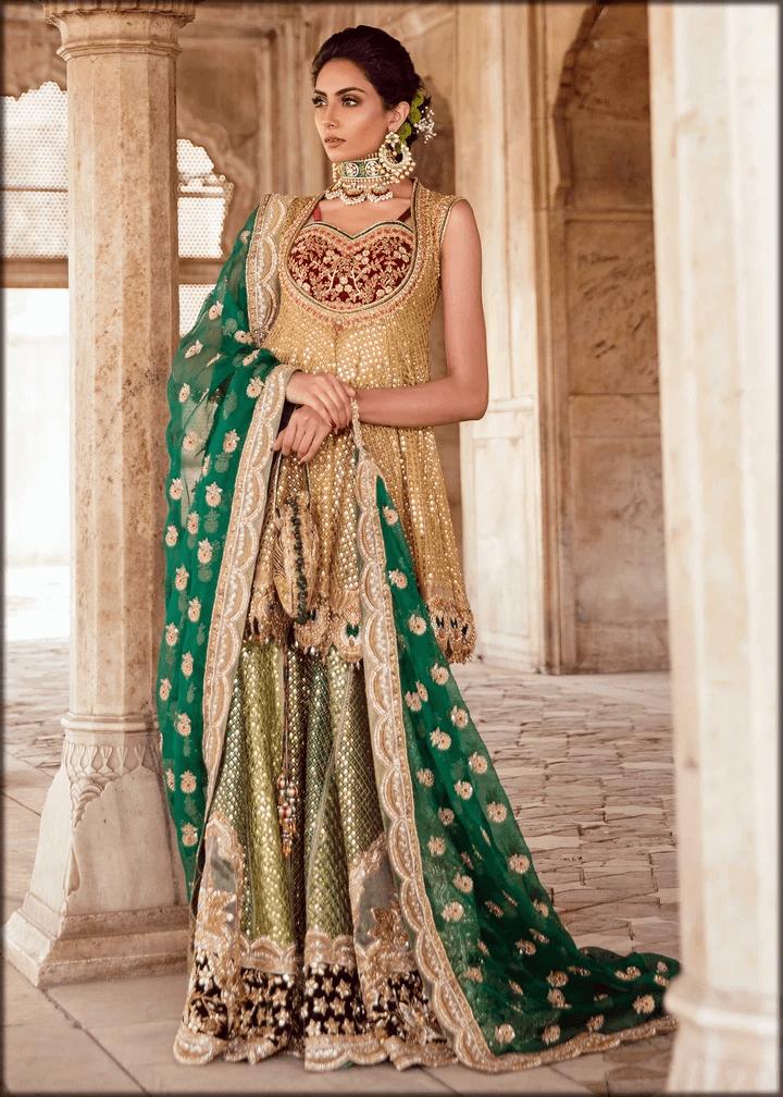 stunning bridal mehndi dress