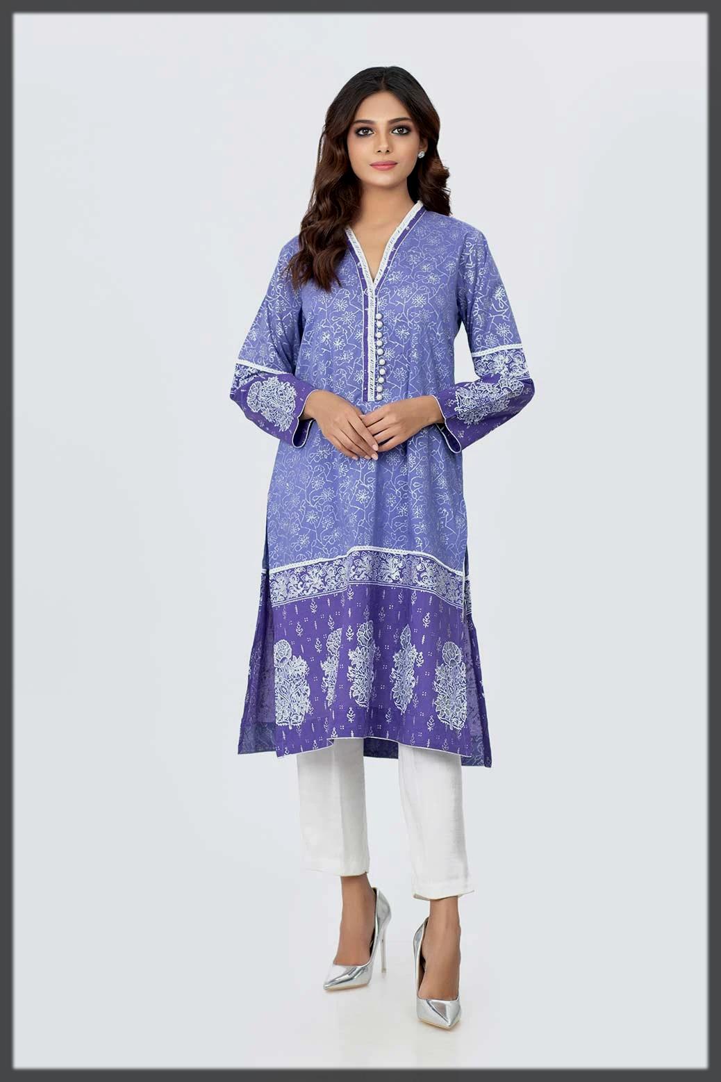 stylish printed kurti by Bonanza Satrangi