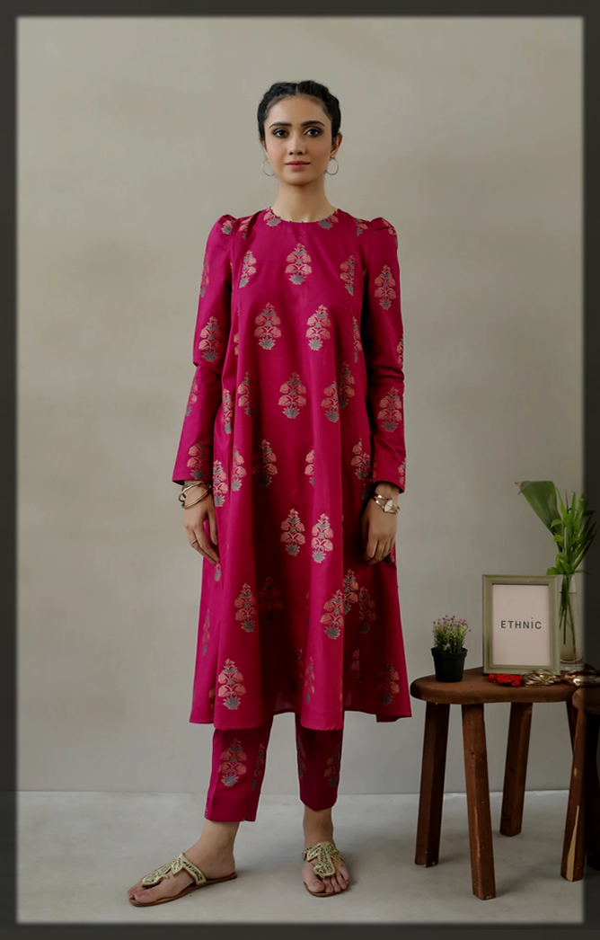 summer jacquard suit for ladies