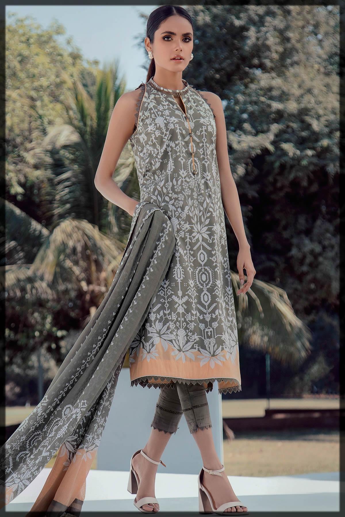 summer outfit by alkaram