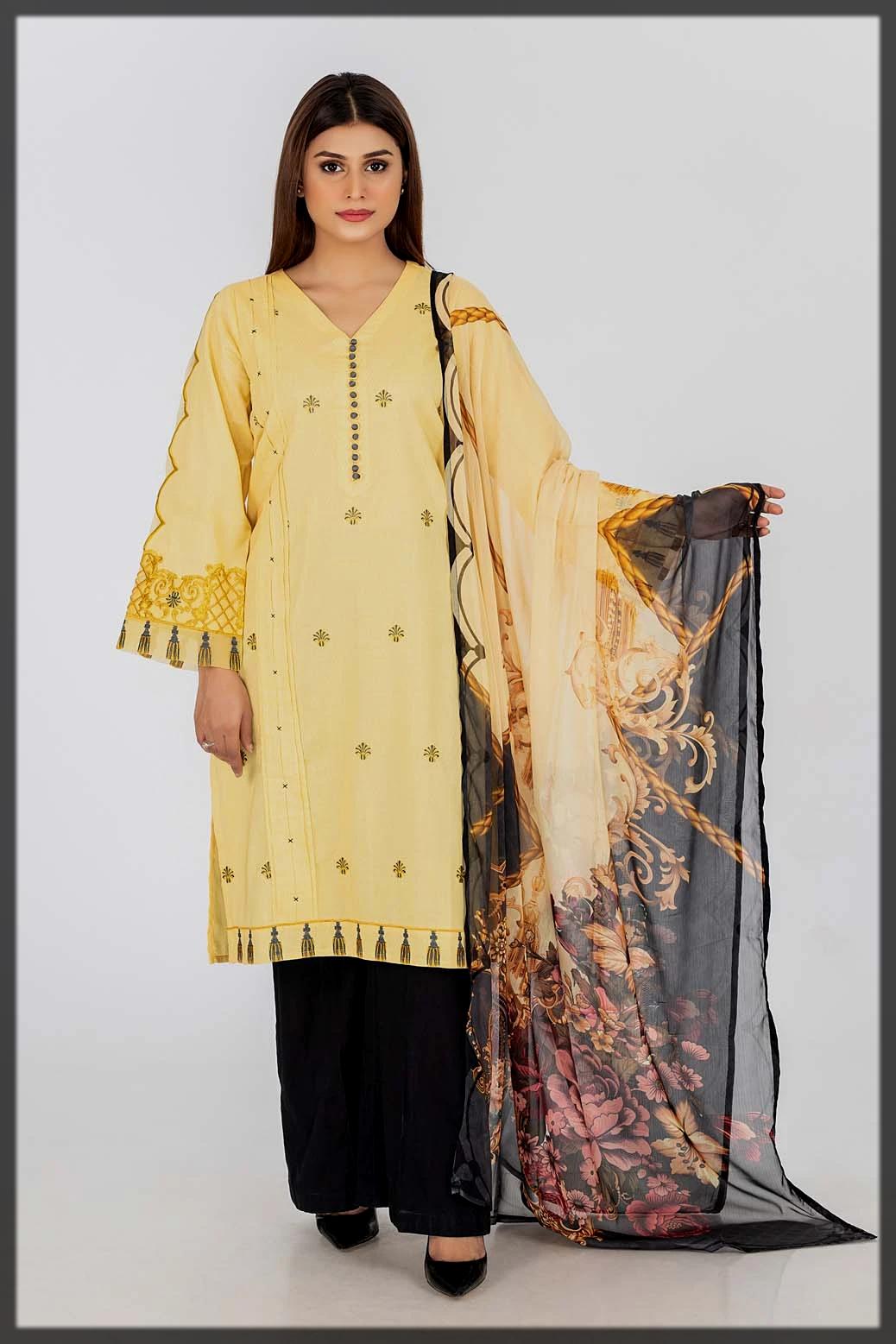 sunshine yellow bonanza satragi summer collection