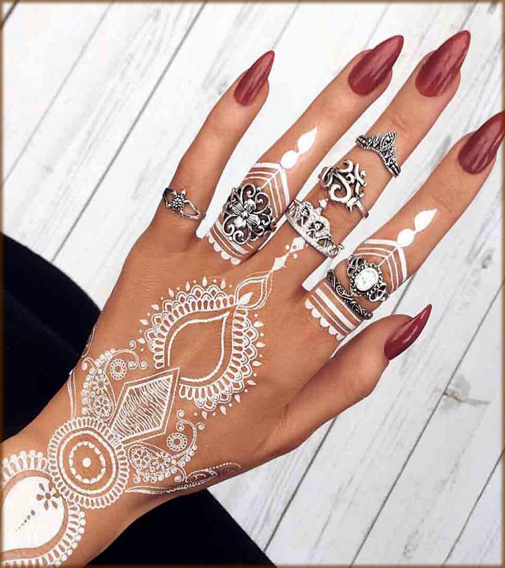 trendy white mehndi designs