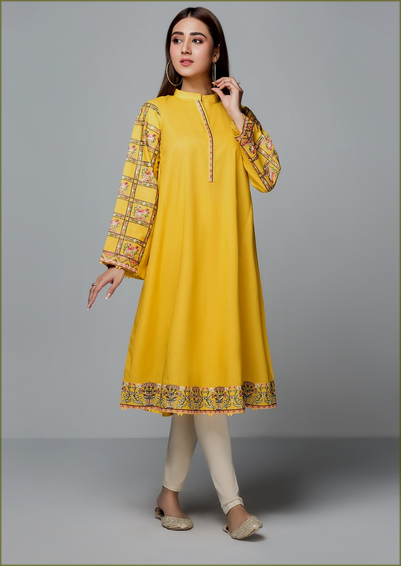 yellow frock with trouser Origins Summer Collection