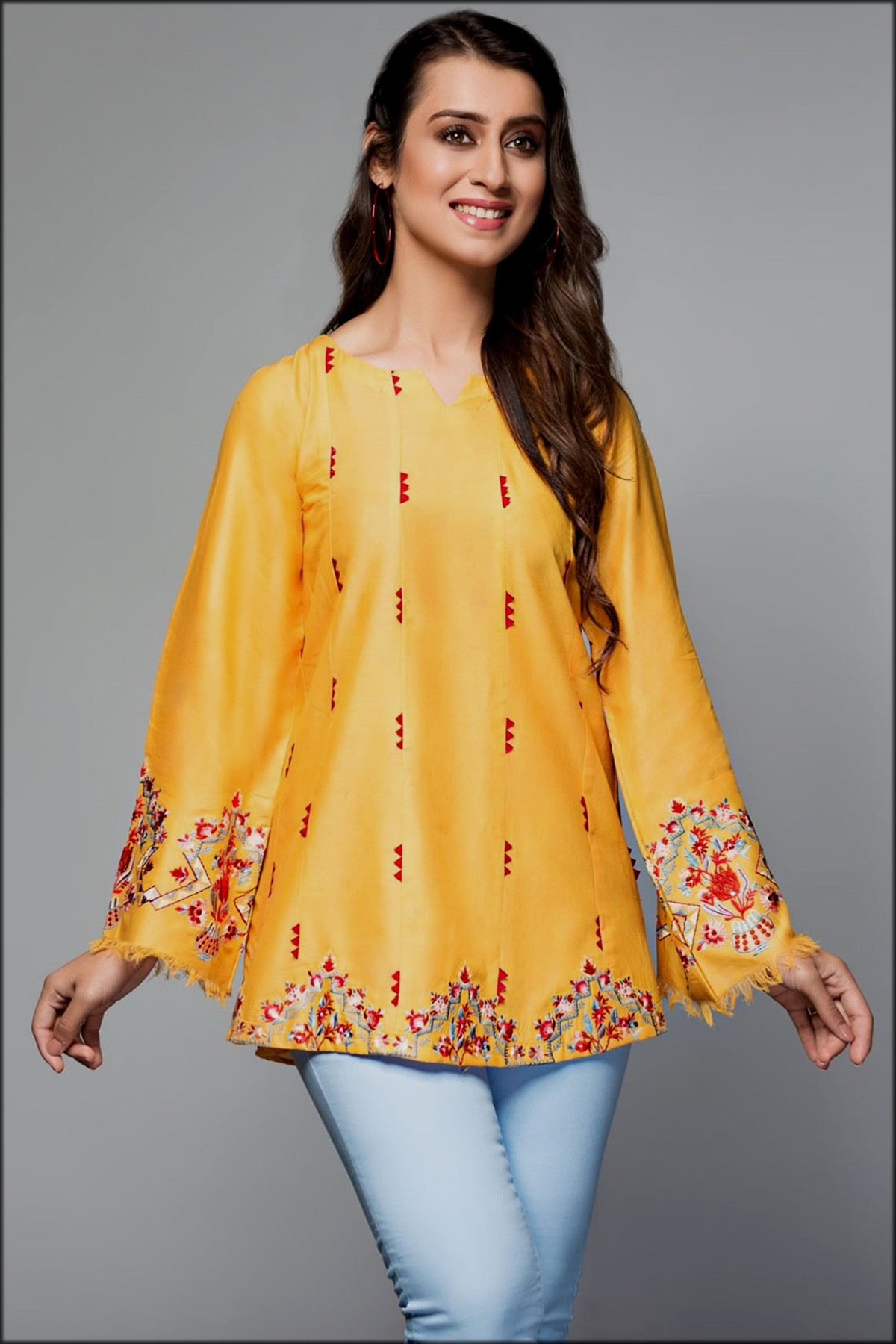yellow top collection for youngest