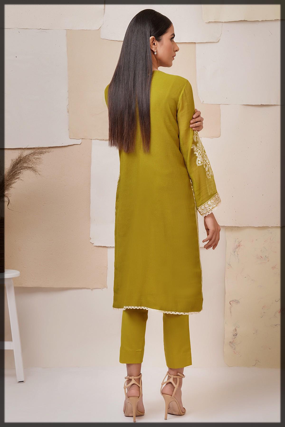 2 Pc Cotton Net Formal Suit for women