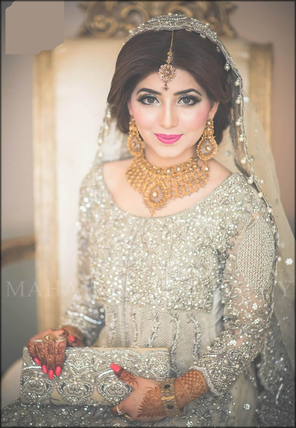 All Back Dupatta Style For Bride