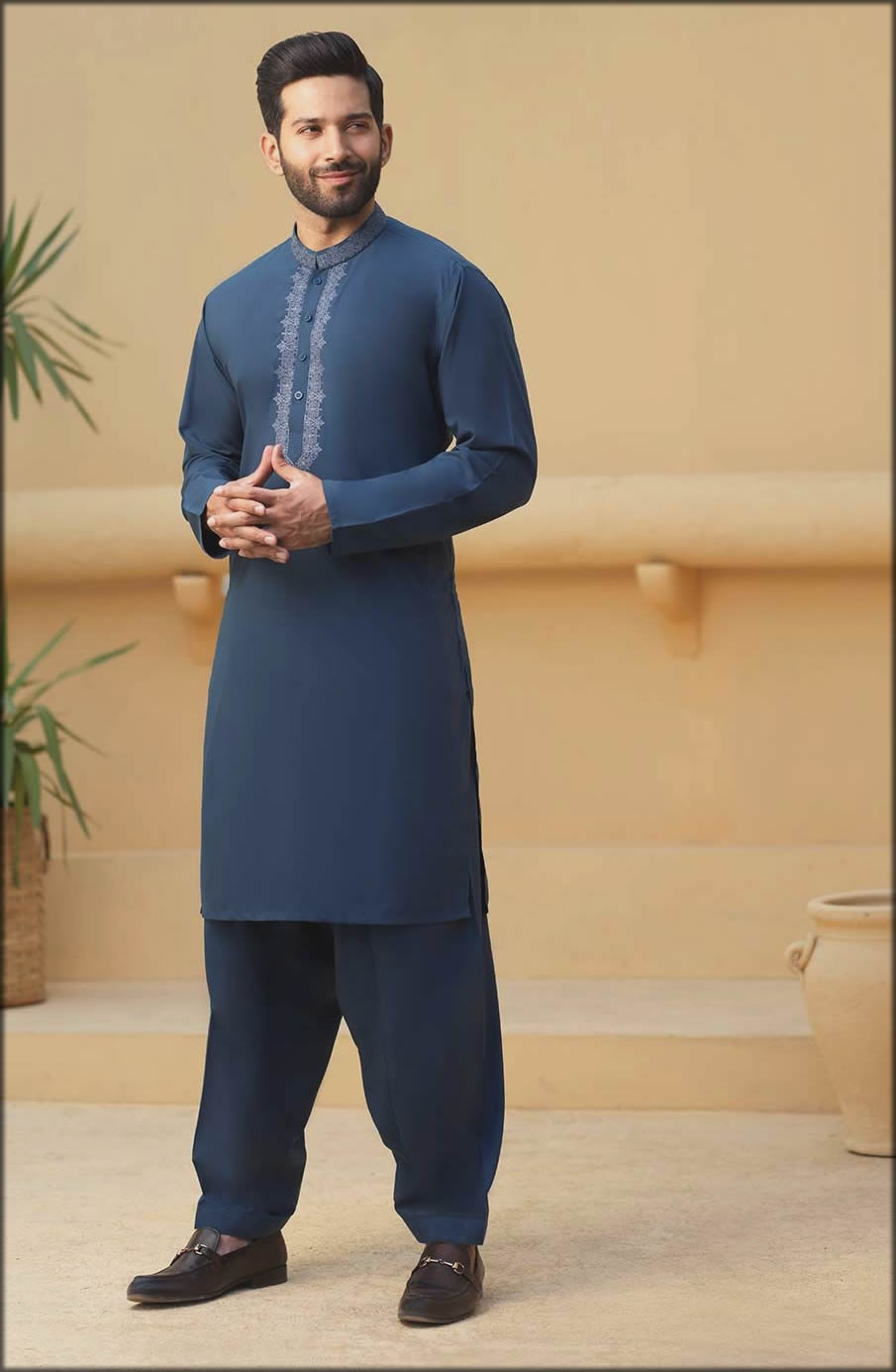 Blue Blended Kurta