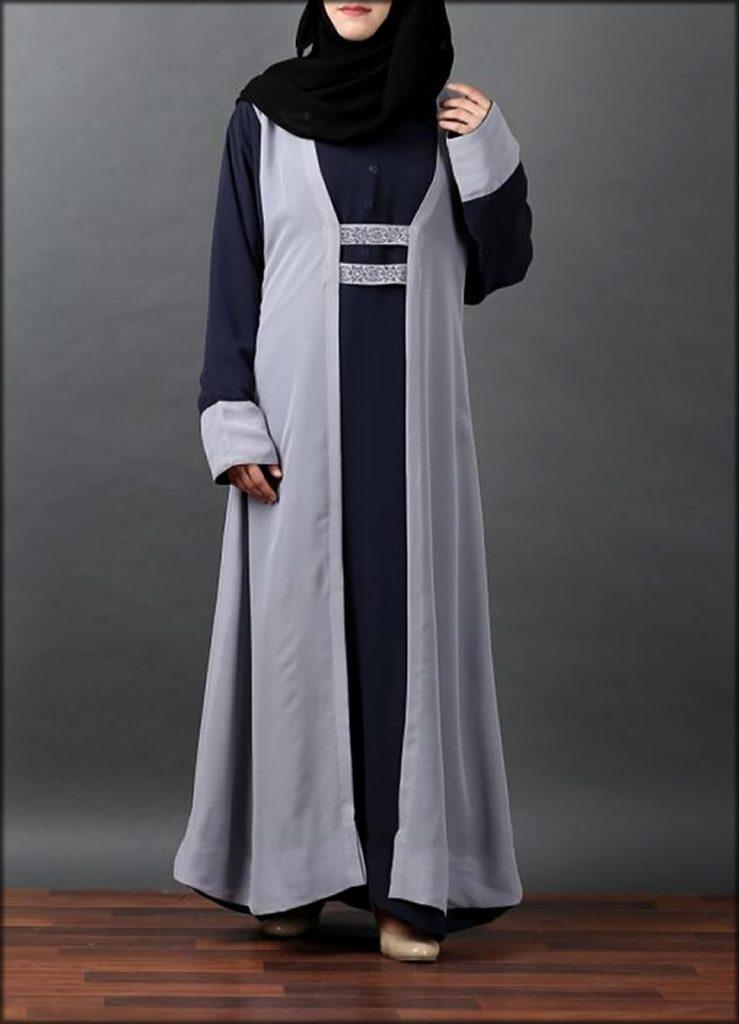Chiffon Fabric Arab Wear Gown