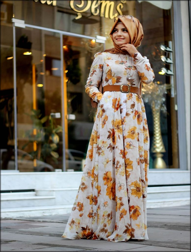 Colorful Printed Gown For Women