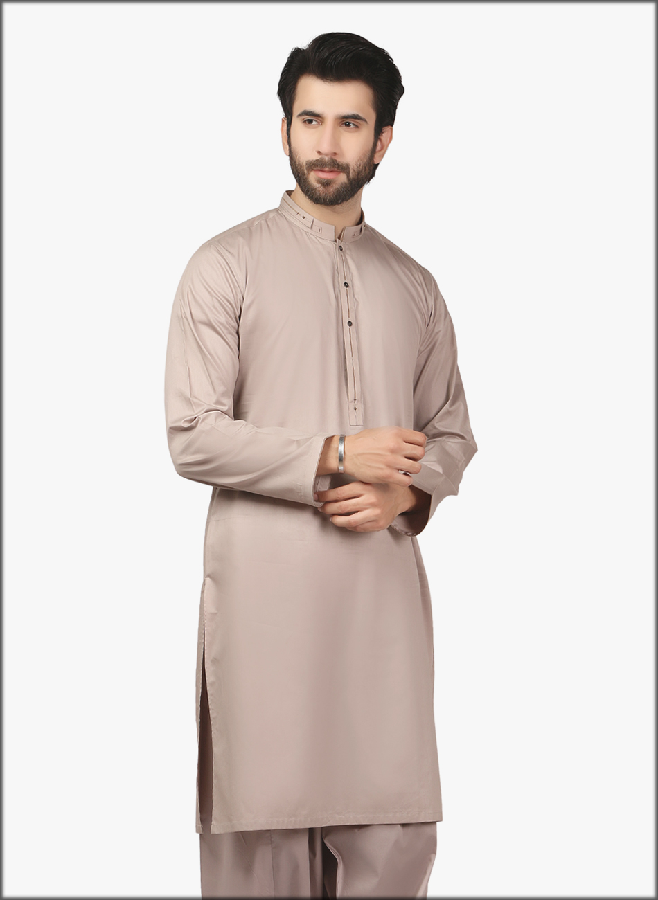 Dull Color Kurta For Men
