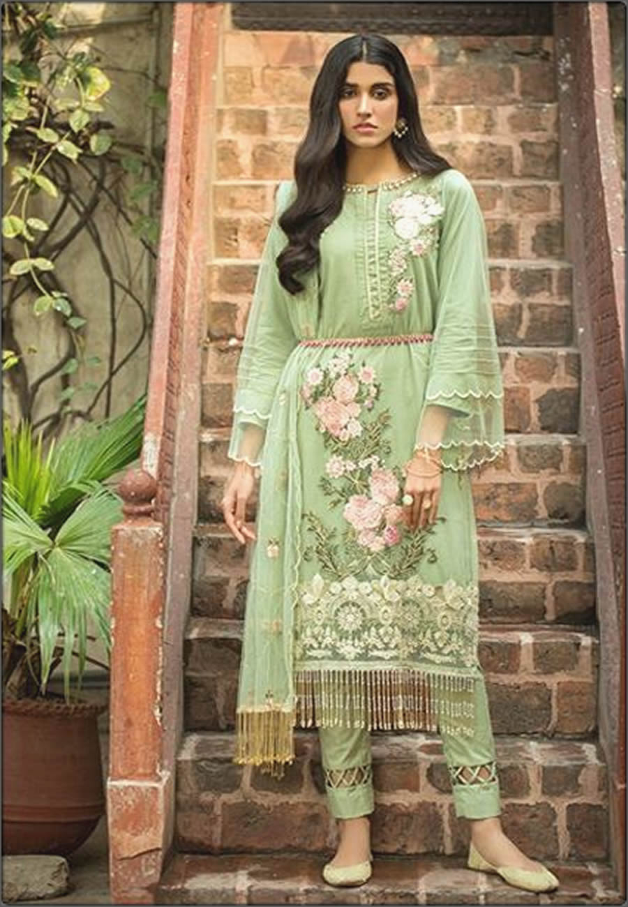 Embroidered Three Piece Mausummery Spring Summer Lawn Suit