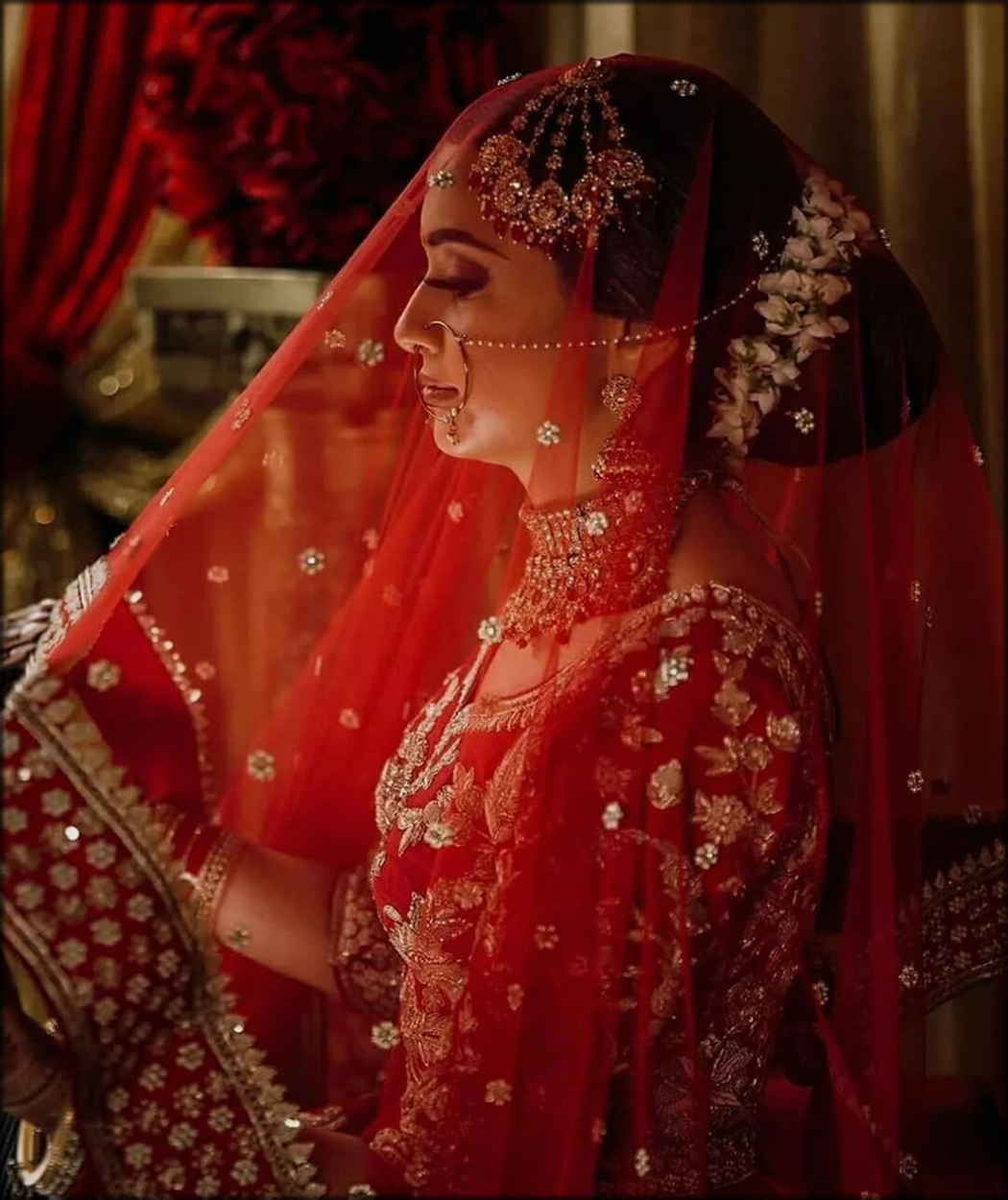 Ghungat Style For Bride