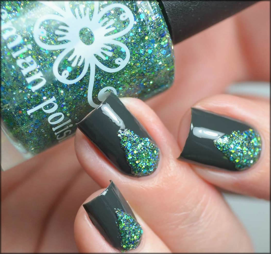Glitter Triangles Polish For Your Nails