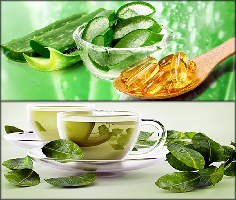 Green Tea, Vitamin E Recipe for hair