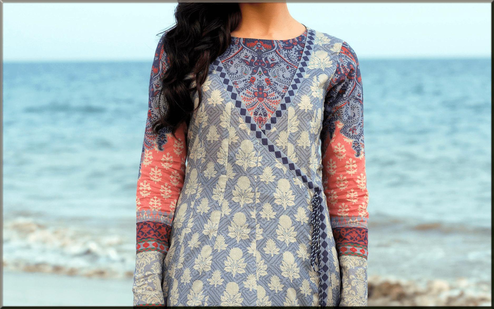 Lawn Dresses Stitching Designs of neckline