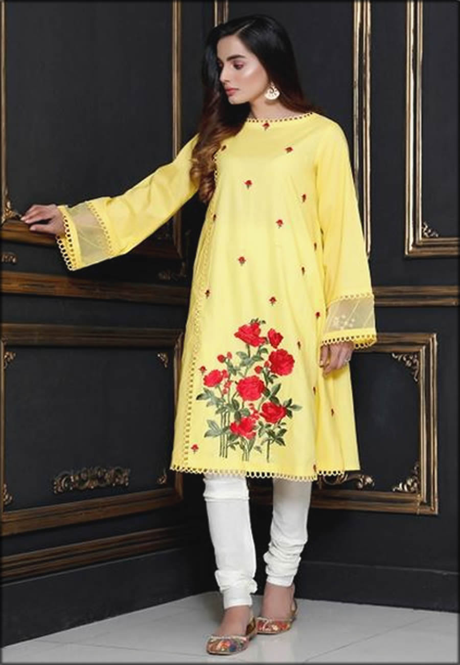 Nicly Embroidered Mausummery Spring Summer Lawn Kuta