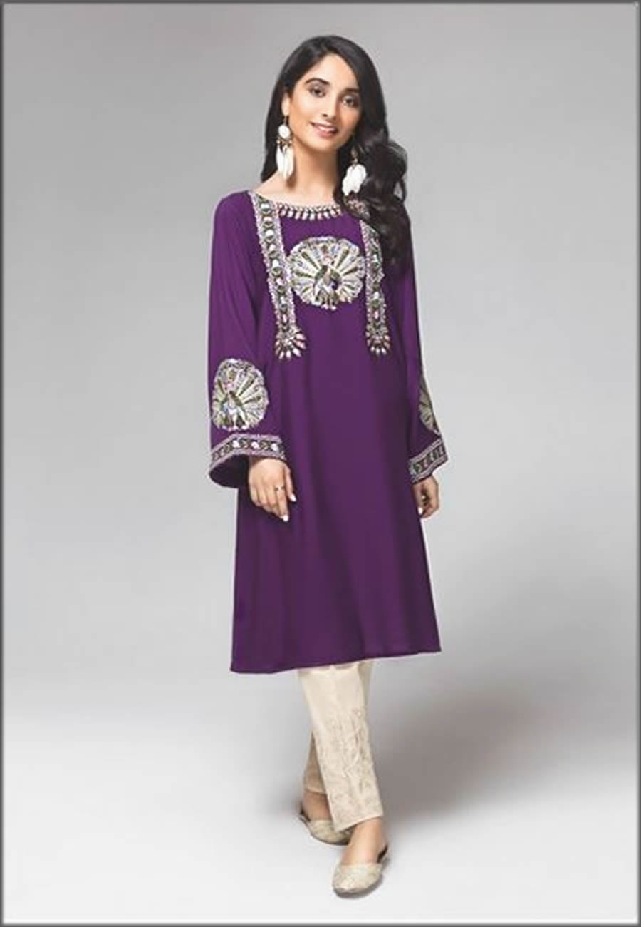 Peacock Glory Embroidered Mausummery Spring Summer Lawn Shirt