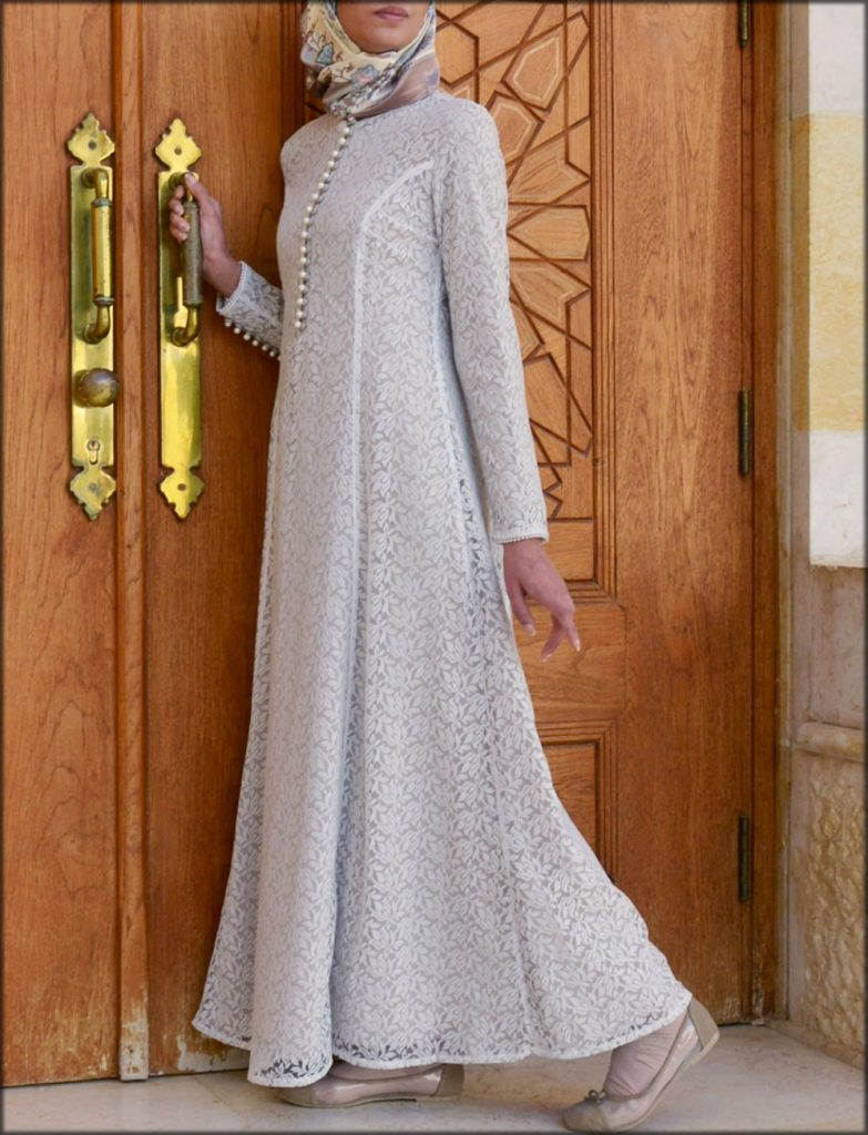 Pearl And Lace Embellished Gown