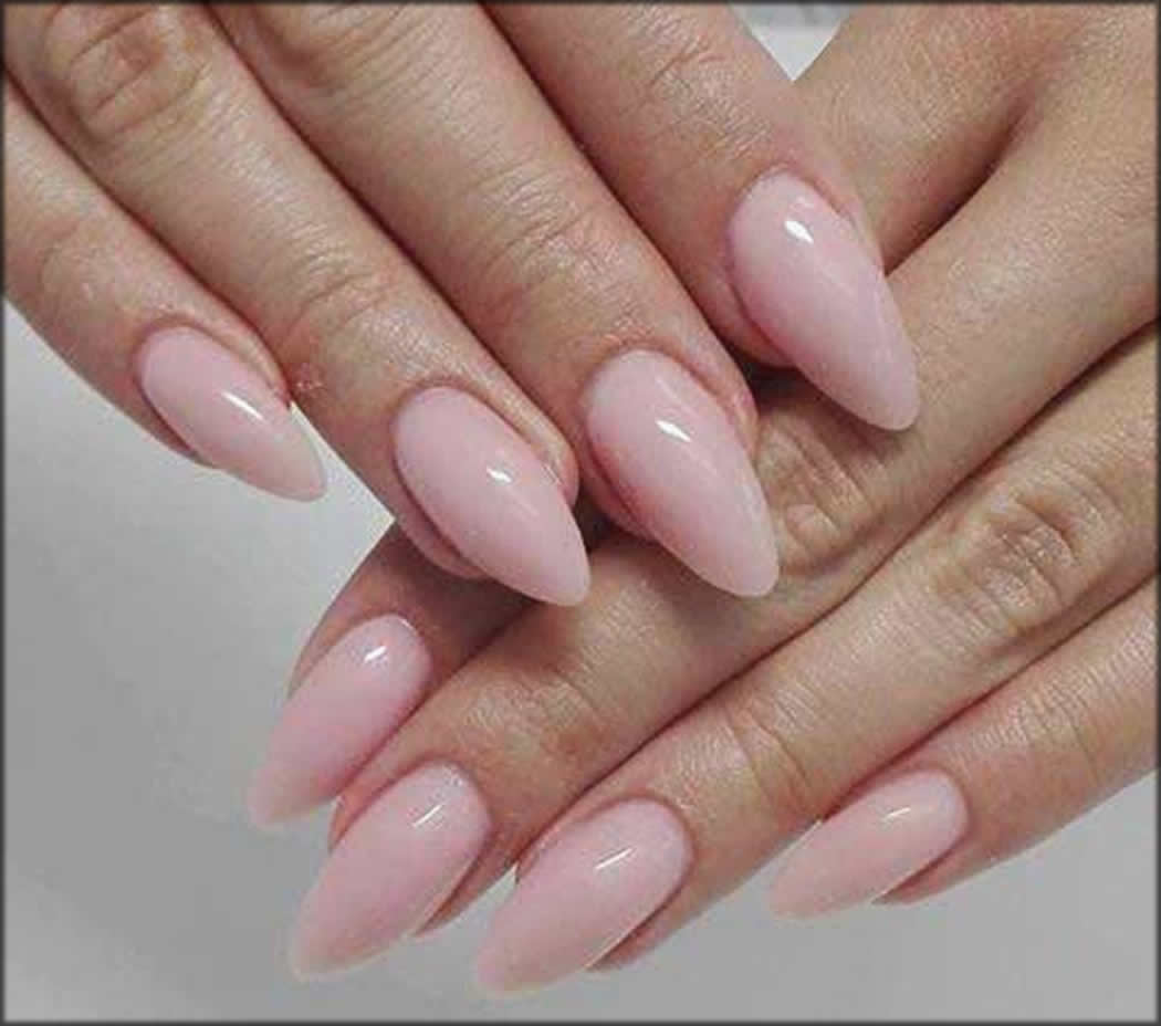 Pointed Tip Vanila Ice Color Nail