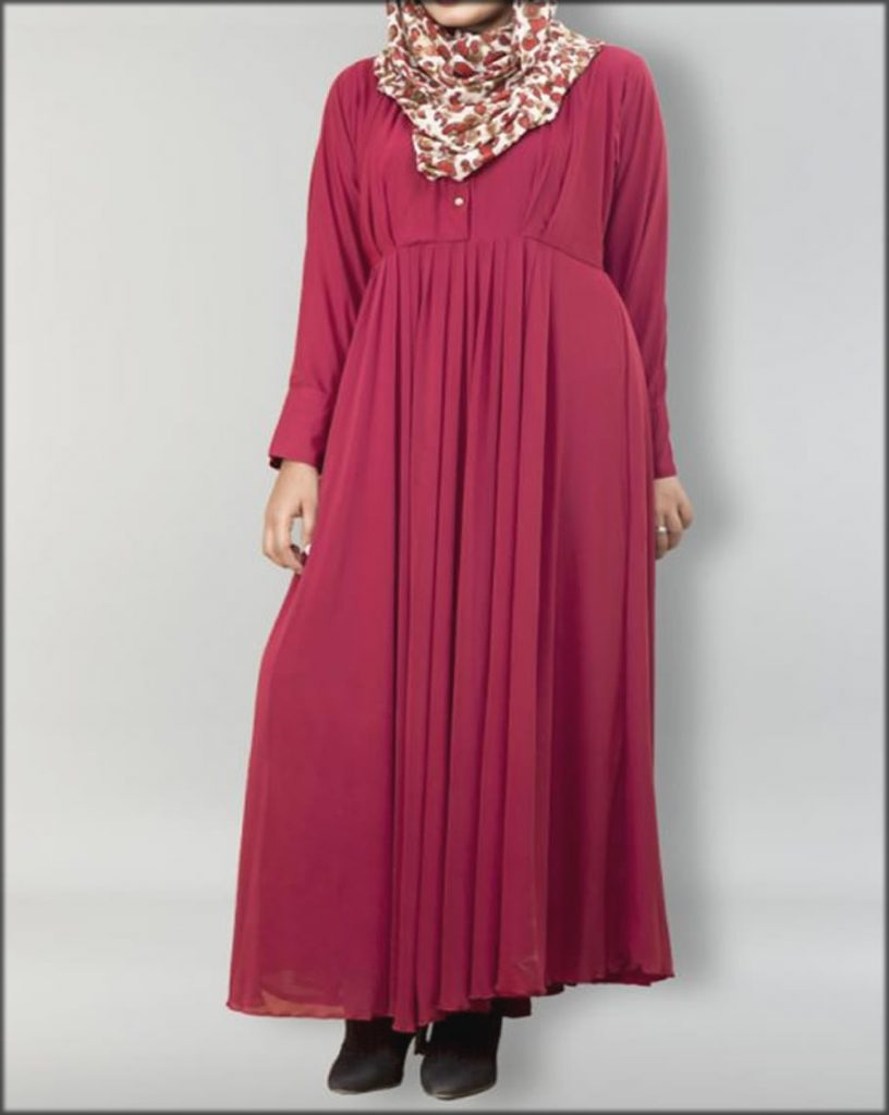 Pull Over Style Front Close Net Gown