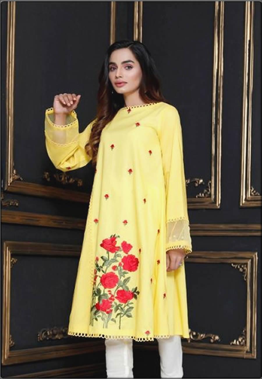Rabab Yellow Lawn Shirt