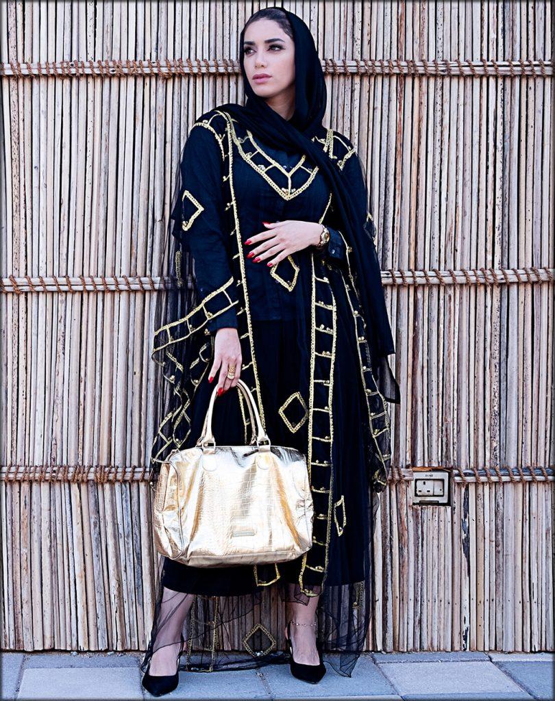 Royal Blue Latest Net Style Abaya