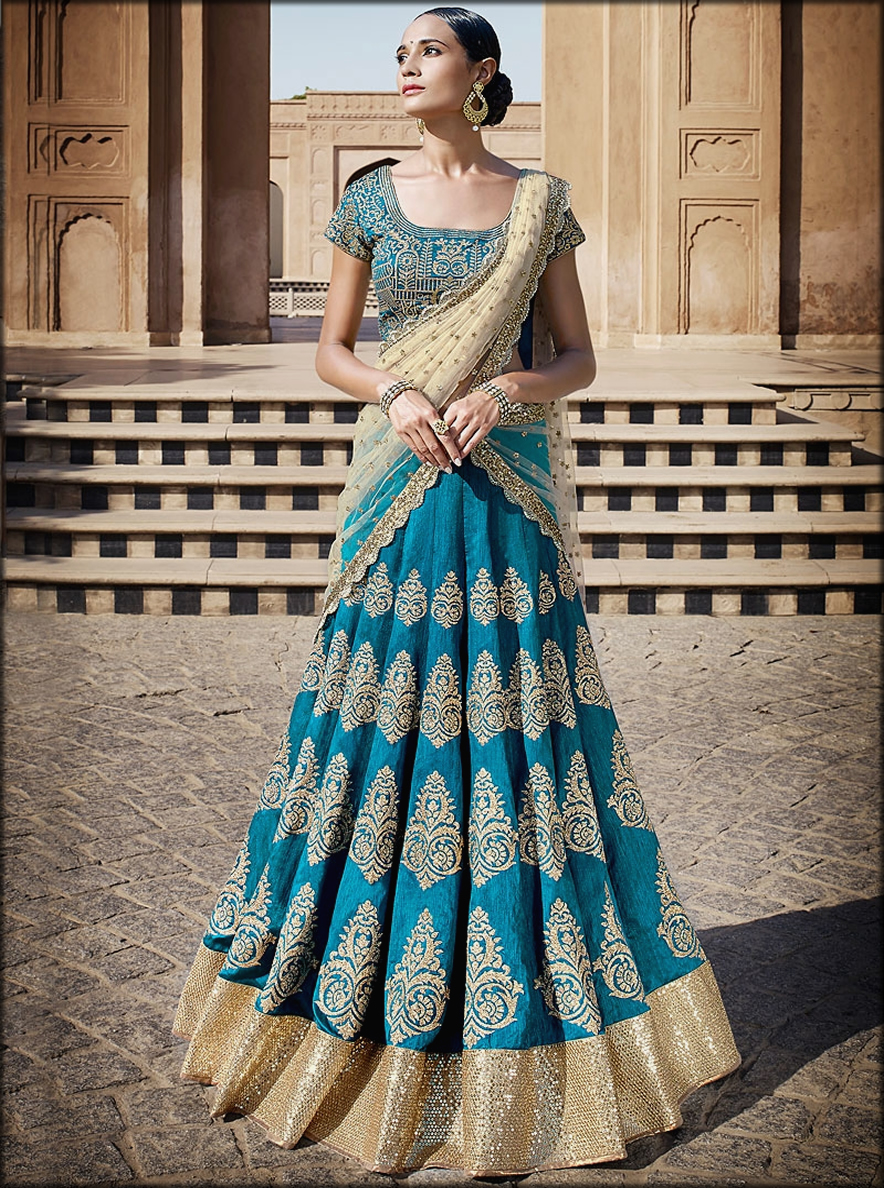 Saree Style With Weist Covering Bridal Dupatta Setting Styles