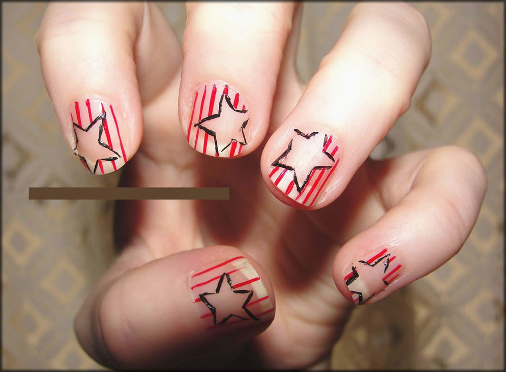 Simple Stars And Strips Art