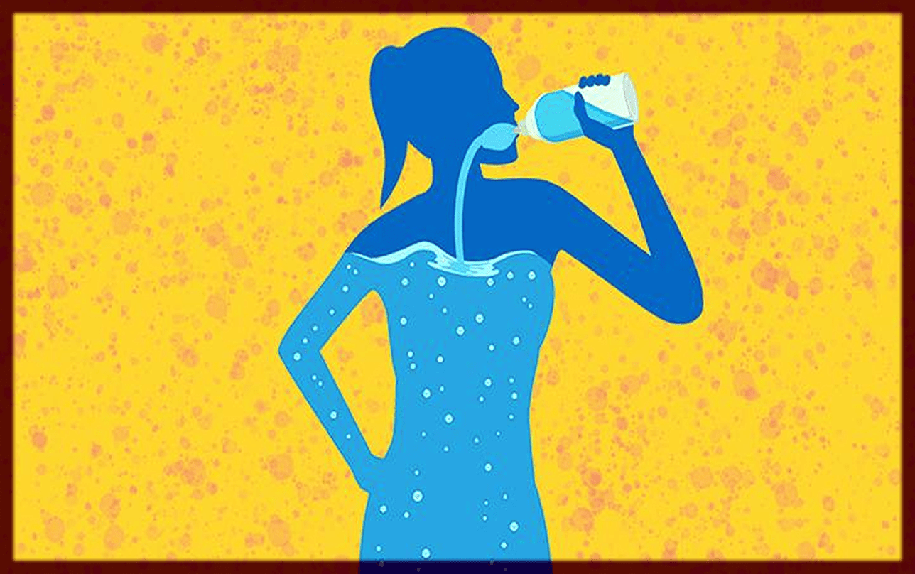 Stay Hydrated to reduce arm fat