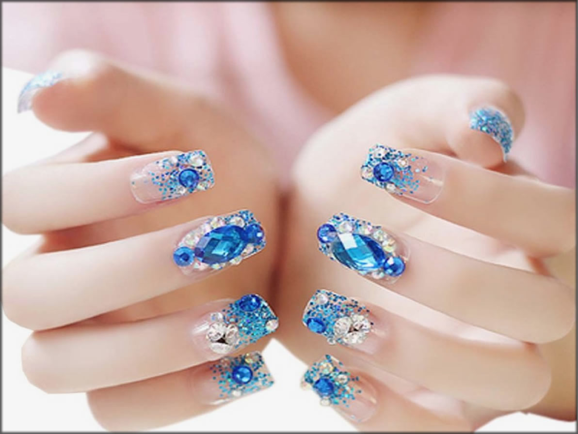 Stylish Jewelry French Nails
