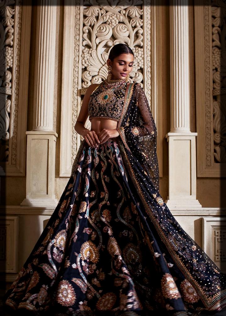 Tena Durrani Black Bridal Collection