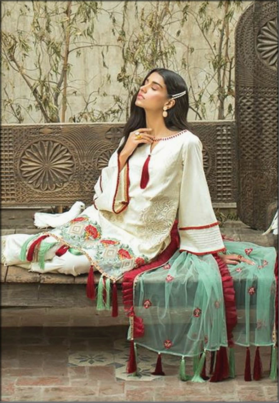 Three Piece Lawn Suit For Women