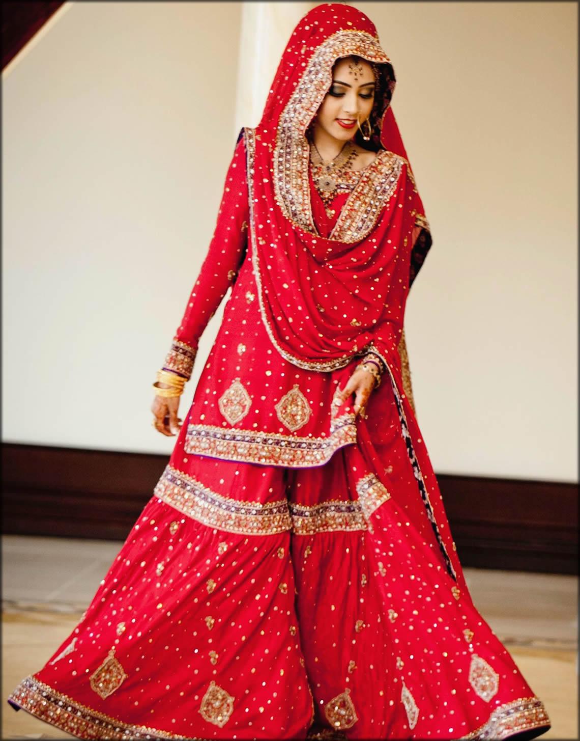 Traditional Bridal Dupatta Setting Styles