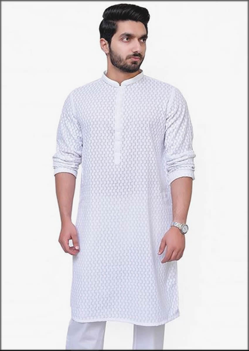 White Kurta For Men