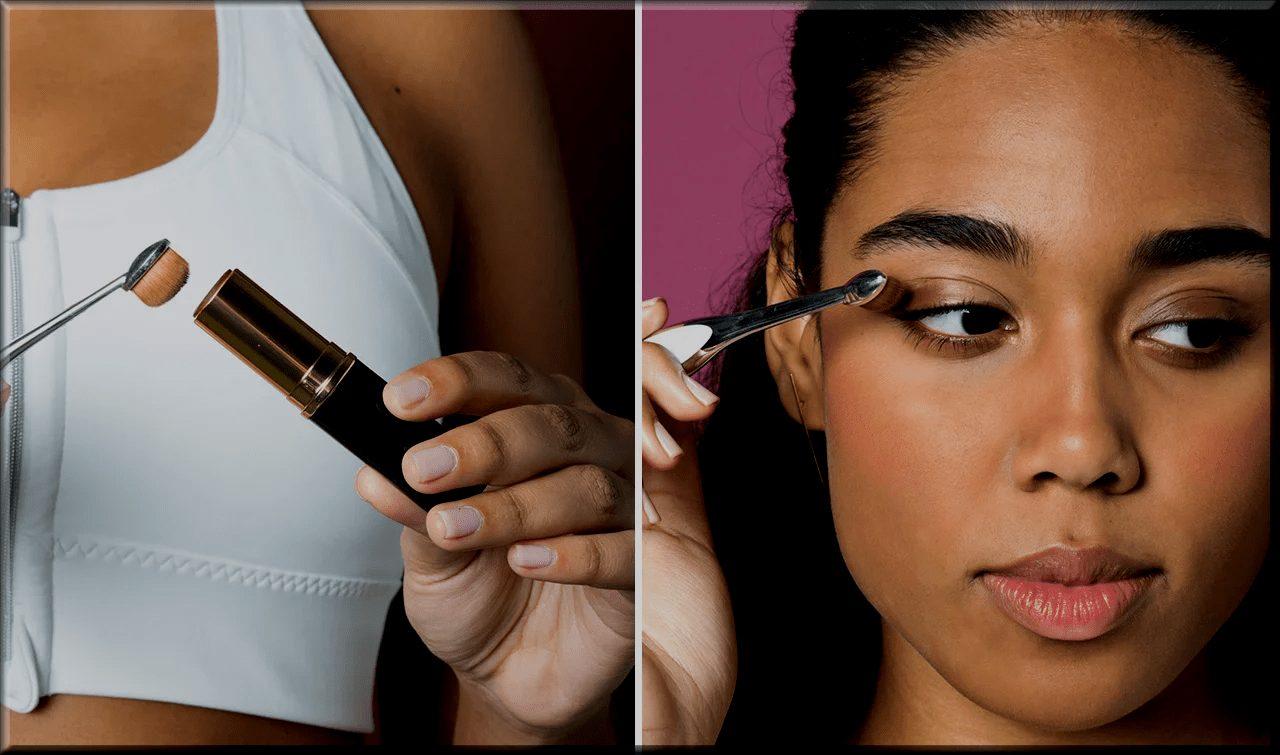 apply foundation around your eyes