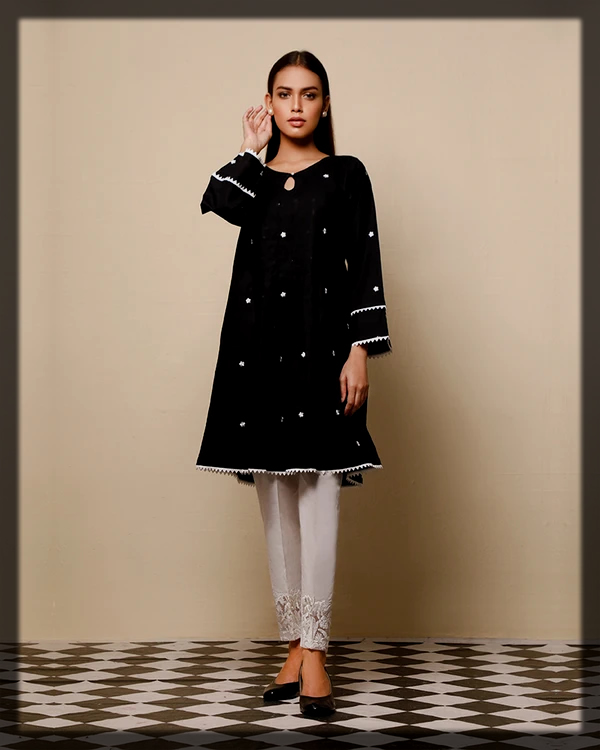 beautiful frock style embroidered lawn top