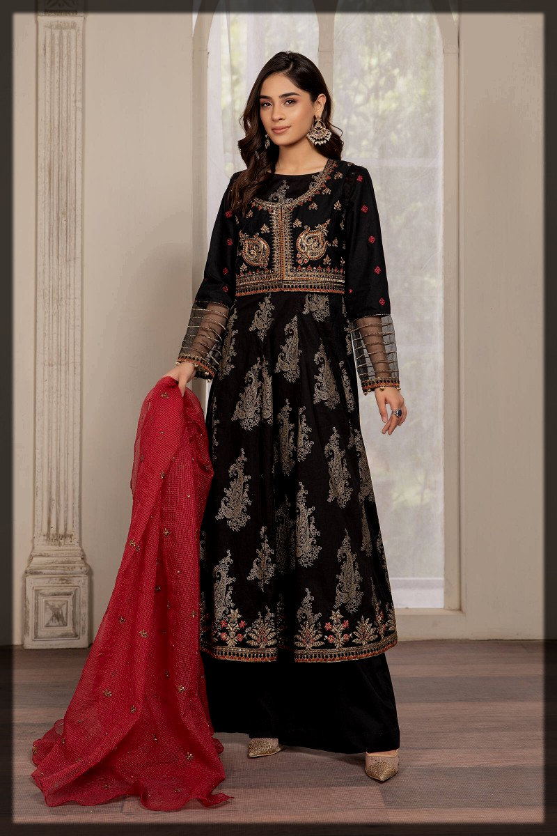 black and red eid dress