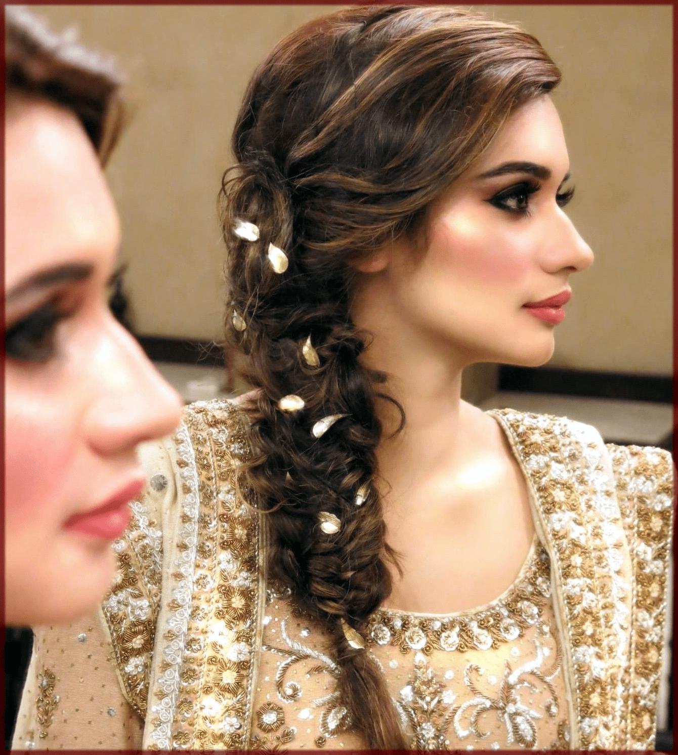 Latest Pakistani Bridal Hairstyles 2020 for Mehndi, Barat and Walima