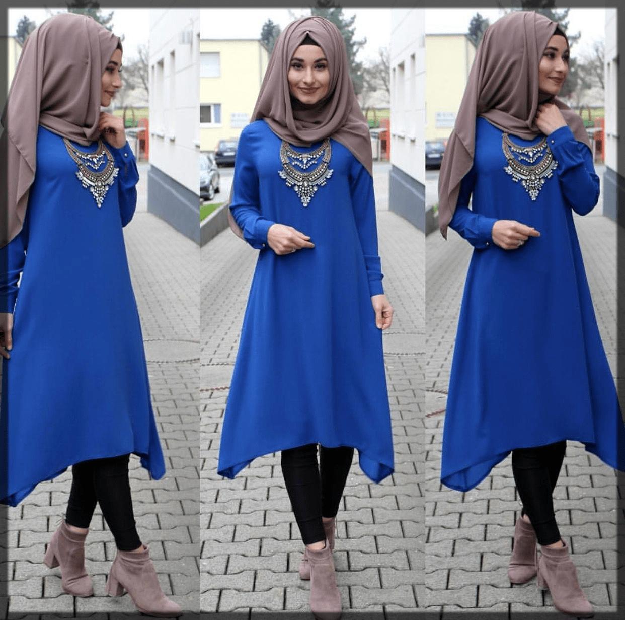 classy and modern turkish hijab style
