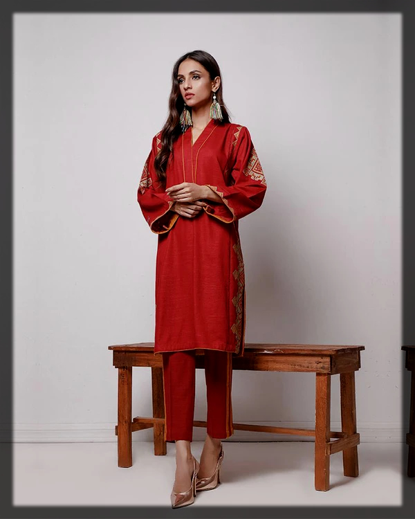 classy summer karandi 2pc suit