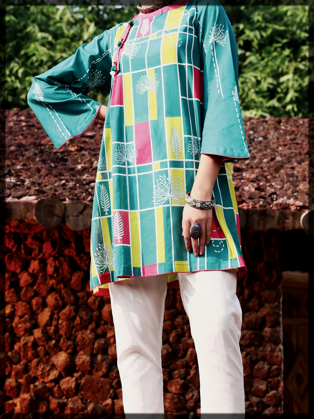 digital printed summer lawn dress