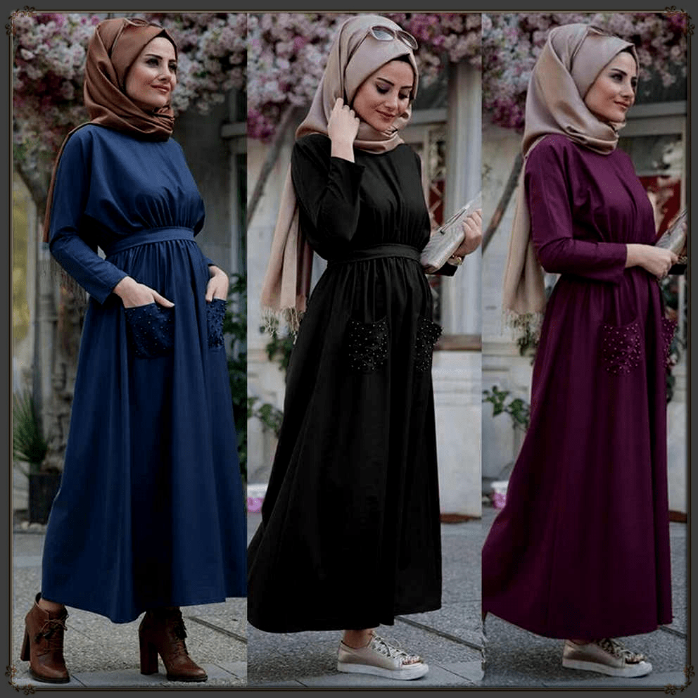 hijjab styles with gown 2020