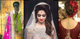Latest Pakistani Bridal Hairstyles 2021 for Mehndi, Barat and Walima